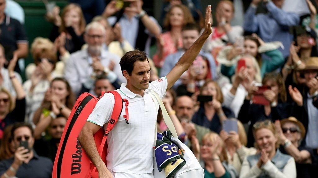 Roger Federer après sa défaite face à Hubert Hurkacz à Wimbledon.