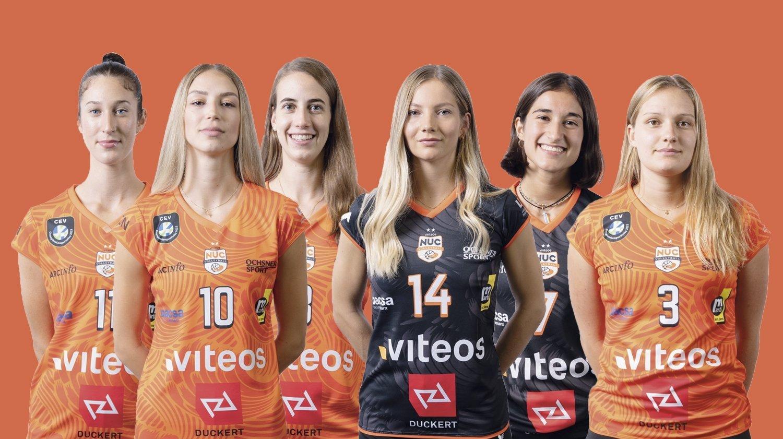 Volleyball: découvrez les six nouvelles joueuses du NUC