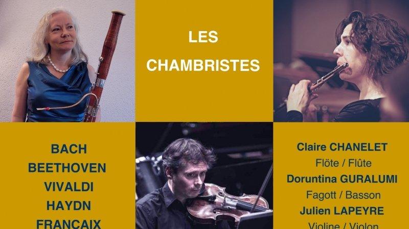 Les Chambristes avec la flûtiste Claire Chanelet!