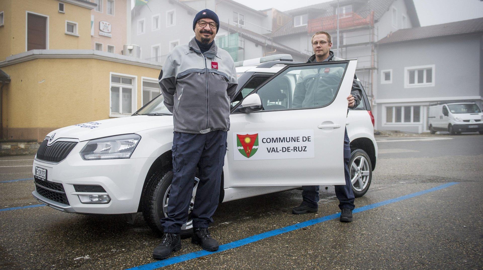 Depuis 2014, date de la photo, les agents de sécurité chaux-de-fonniers travaillent aussi à Val-de-Ruz.
