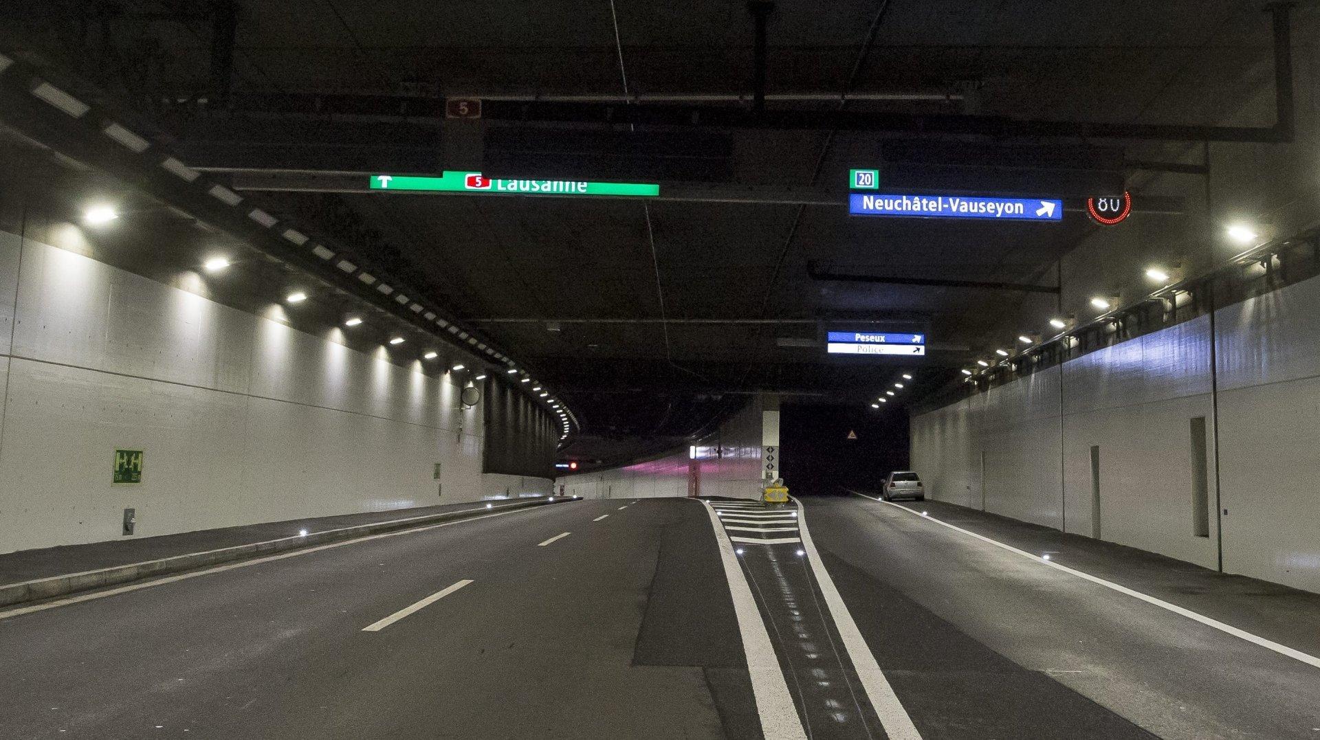 Un accident dans les tunnels sous Neuchâtel ce lundi en fin d'après-midi