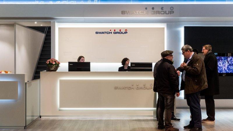 Le Swatch Group (ici son stand à Baselworld en 2018) ne fera plus partie des titres phares de la bourse suisse dès lundi.