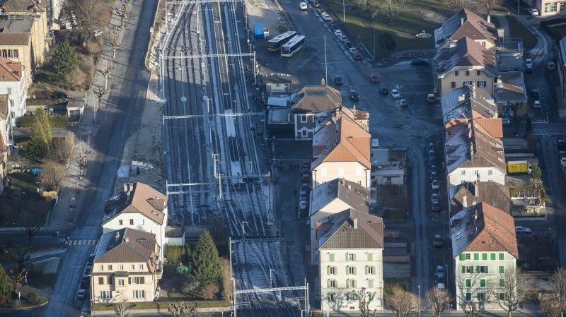 Dernière ligne droite pour le réaménagement de la place de la Gare de Fleurier