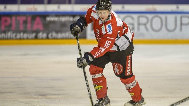 Lionel Houriet a inscrit le but du 4-2 pour le HC Star Chaux-de-Fonds.