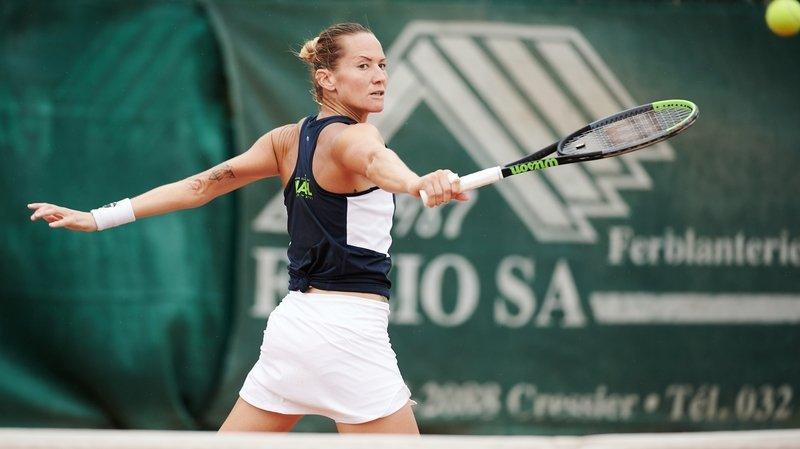 Tennis: Conny Perrin jusqu'en quart à Collonge-Bellerive