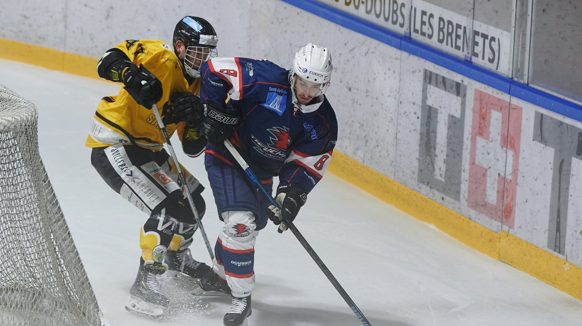 Quentin Schnegg (en bleu) et Robin Vuilleumier ont mis du temps à se départager.