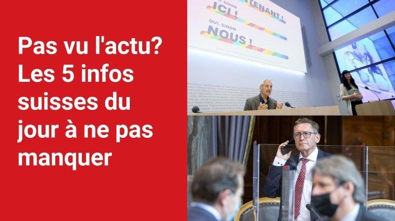 Les 5 infos à retenir dans l'actu suisse de ce mardi 21 septembre