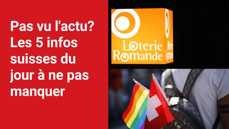 Les 5 infos à retenir dans l'actu suisse de ce mercredi 15 septembre