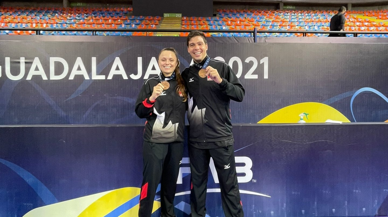 Une médaille de bronze et des souvenirs pour Lauren Bertolacci et Pablo Sanchez