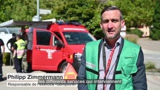 Tunnel du Simplon: près de 120 figurants participent à un exercice de sauvetage