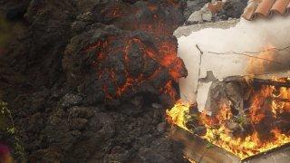 Eruption aux Canaries: plus de 300 bâtiments détruits par la lave