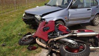Canton de Neuchâtel: deux accidents, deux motards blessés