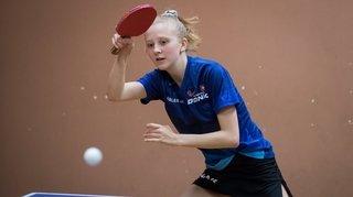 Tennis de table: Nina Tullii décroche deux titres de championne de Suisse jeunesse