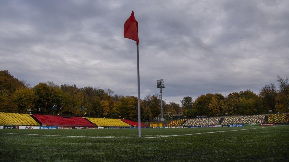 Une vue du stade avant la rencontre entre la Lituanie et la Suisse.