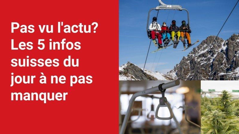 Les 5 infos à retenir dans l'actu suisse de ce mardi 19 octobre