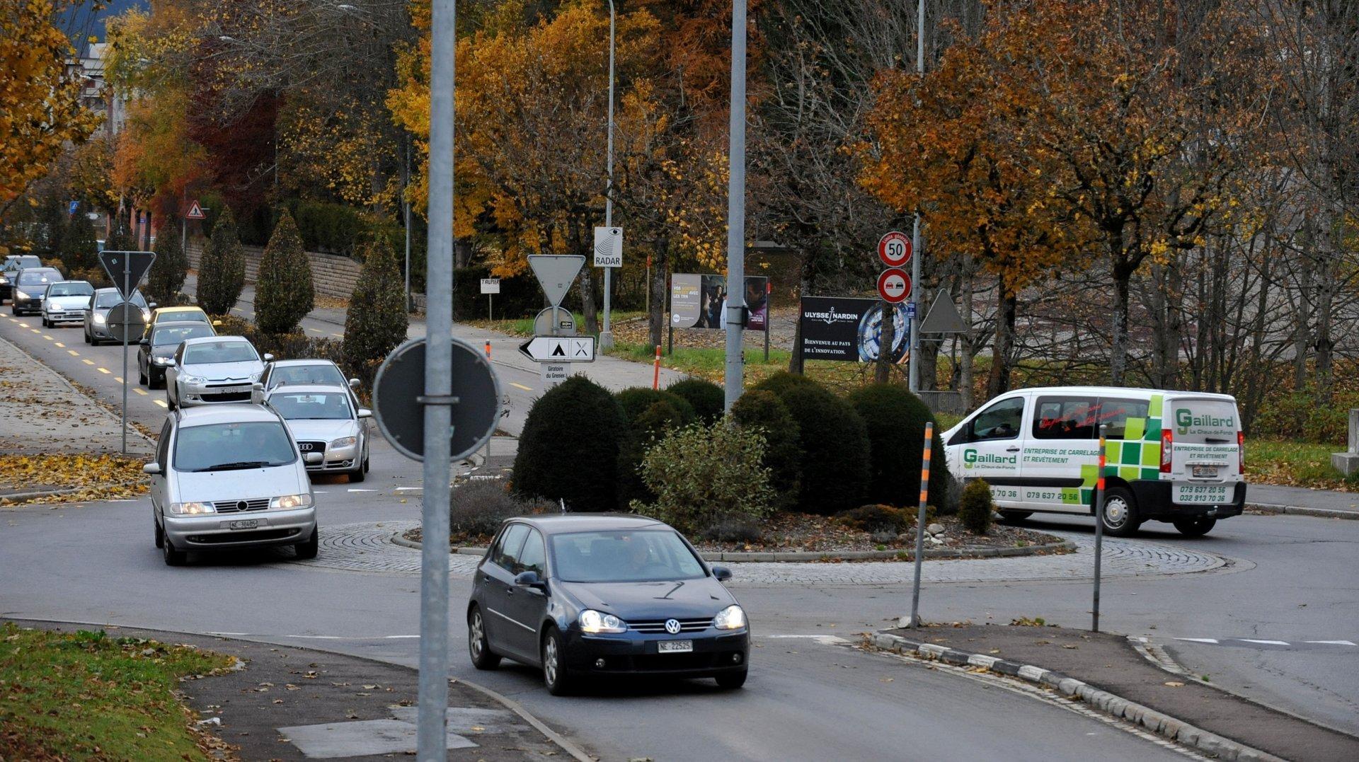Motard blessé à La Chaux-de-Fonds