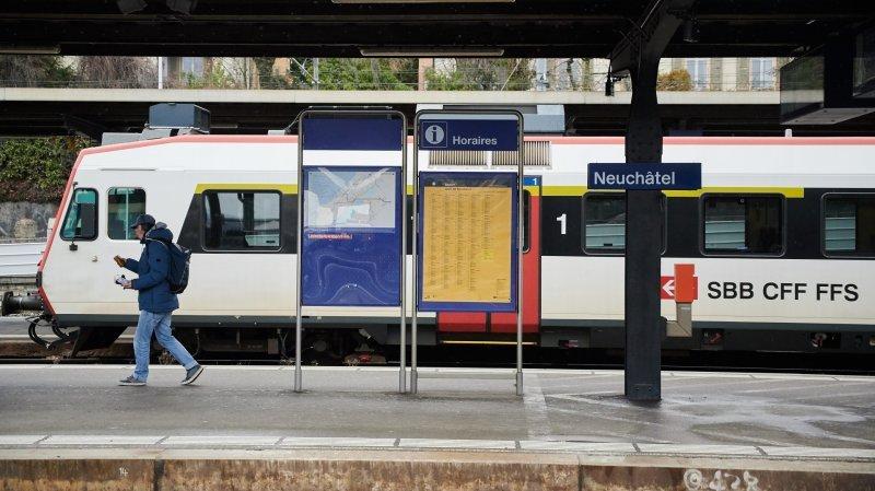 Neuchâtel-La Chaux-de-Fonds: les trains en journée, les bus en soirée