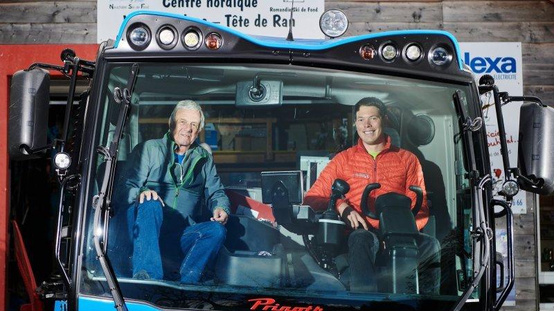 Jean-Claude Chautems s'arrête après avoir conduit la dameuse à La Vue-des-Alpes pendant… 25 ans!