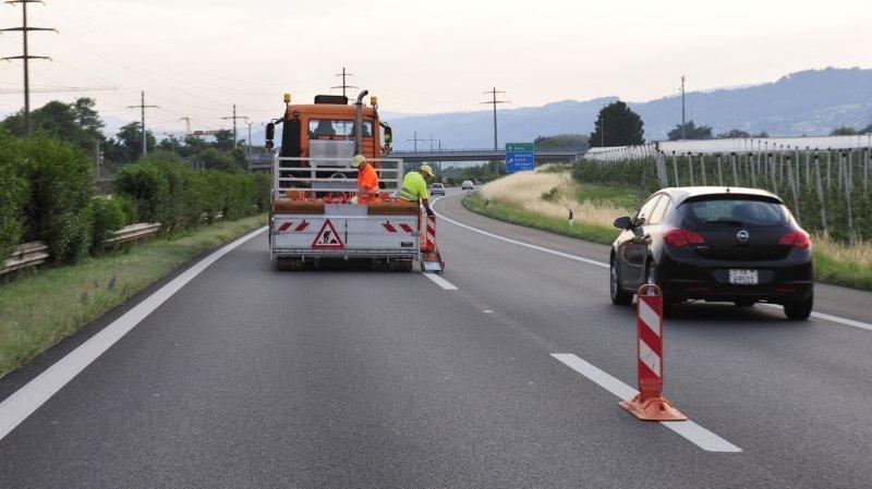 Colombier: il fonce dans une remorque de chantier sur l'autoroute