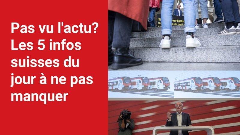Les 5 infos à retenir dans l'actu suisse de ce mardi 5 octobre