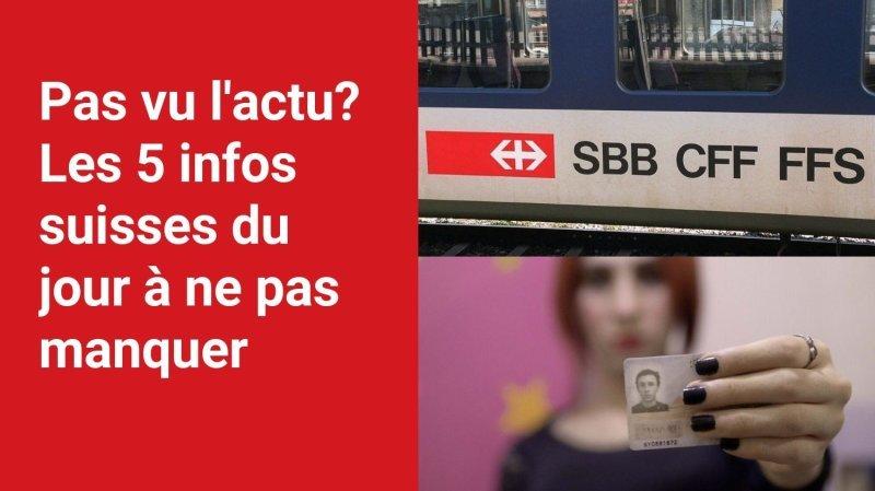 Les 5 infos à retenir dans l'actu suisse de ce mercredi 27 octobre