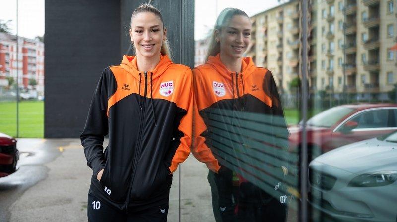 La nouvelle joueuse du NUC Barbara Dapic face à ses «rivales» de Mladost Zagreb