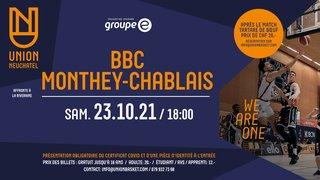Union Neuchâtel Basket - BBC Monthey-Chablais