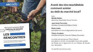 Avenir des vins neuchâtelois : comment exister au-delà du marché local ?