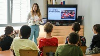 Cormondrèche: un cours de dessin pas comme les autres pour les élèves des Safrières
