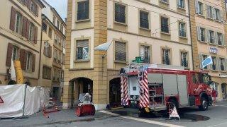 Les pompiers déployés au centre-ville de Neuchâtel