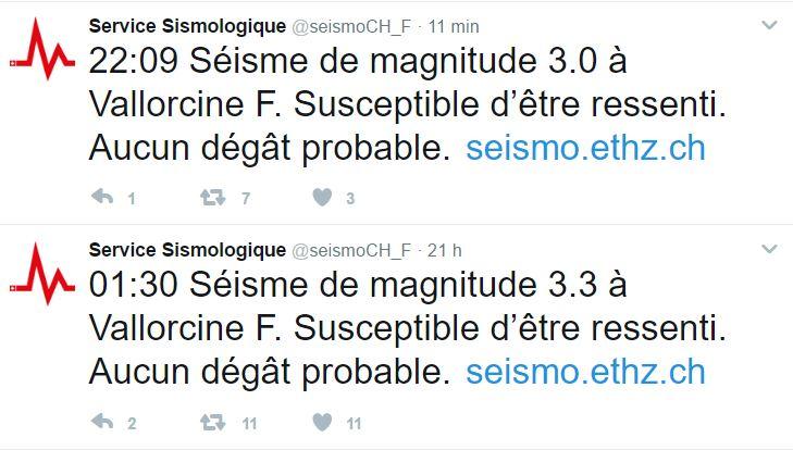 Nouveau tremblement de terre dans la région de Chamonix