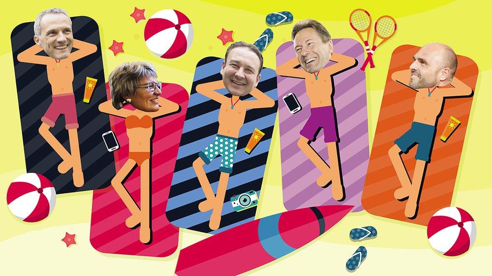 Les cinq ministres se mettent au vert cet été.