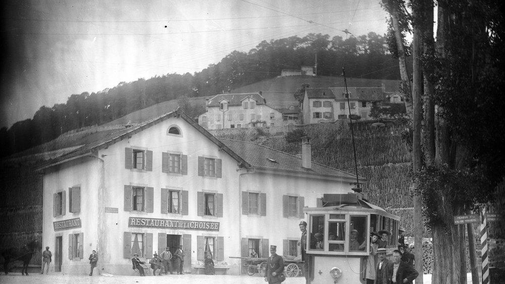 Le quartier de Vauseyon vers 1904.