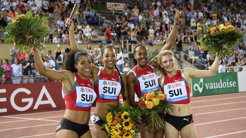 Athletissima à Lausanne: le relais 4x100 m féminin pulvérise le record suisse