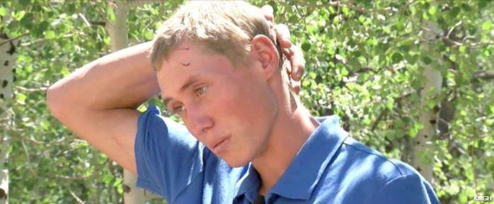 Neuf points de suture pour ce jeune instructeur du Colorado, mordu par un ours.