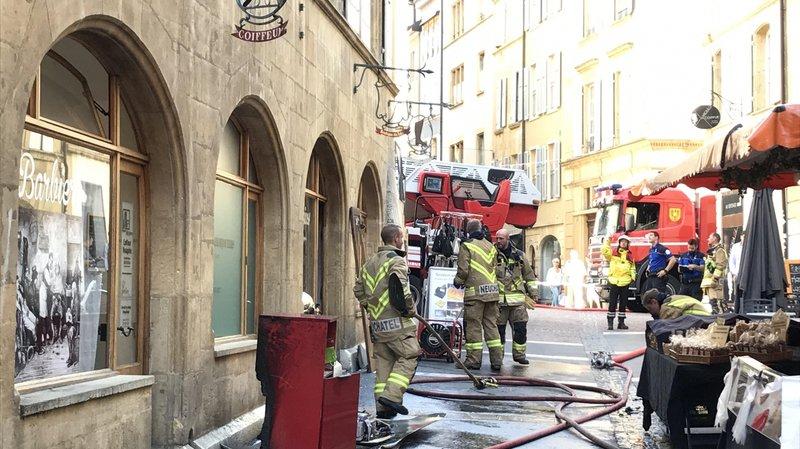 Incendie à la Croix-du-Marché à Neuchâtel