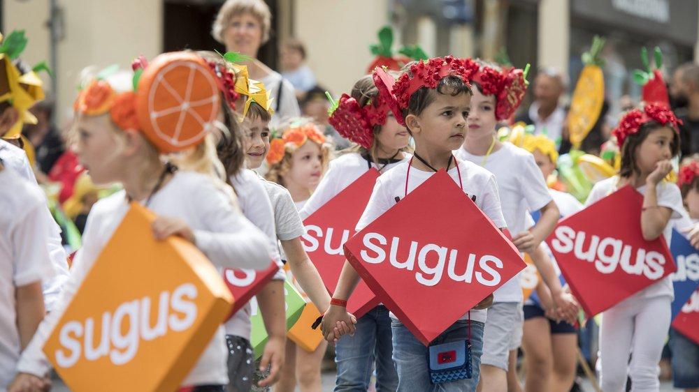 Le mythe Sugus est toujours bien présent à Neuchâtel: ici, en juin dernier, lors du cortège de la fête des enfants.