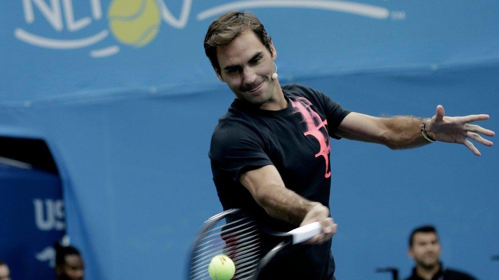 Roger Federer a pu recommencer à jouer normalement depuis plus d'une semaine.