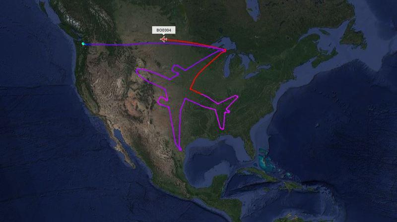 États-Unis: un avion dessine... un autre avion dans le ciel