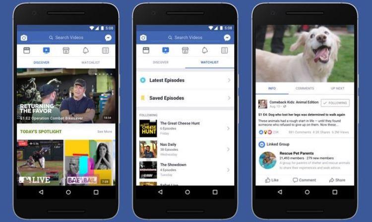 """Réseaux sociaux: Facebook lance """"Watch"""", son nouveau service vidéo qui vient concurrencer YouTube"""