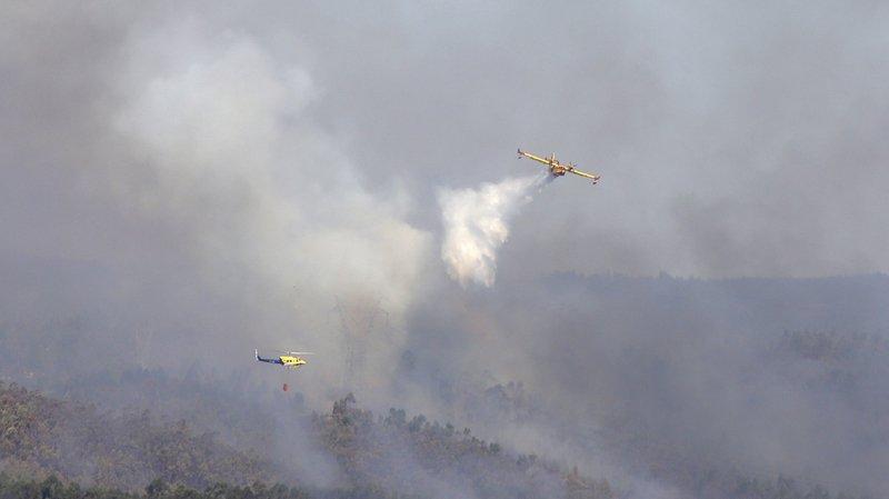 Au Portugal, des vents sec et une température avoisinant les 40 degrés ont contribué à la propagation des flammes.