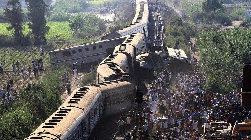 Egypte: la collision entre deux trains a fait 41 morts et 132 blessés