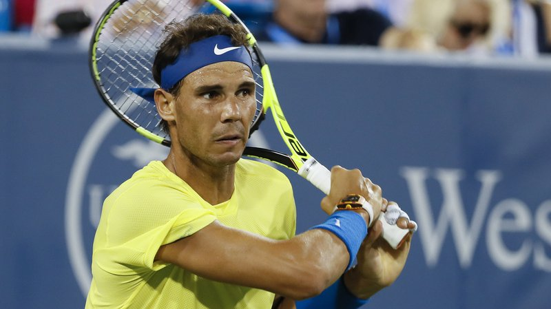 Rafael Nadal, le 18 août, lors de son match perdu contre Nick Kyrgios.
