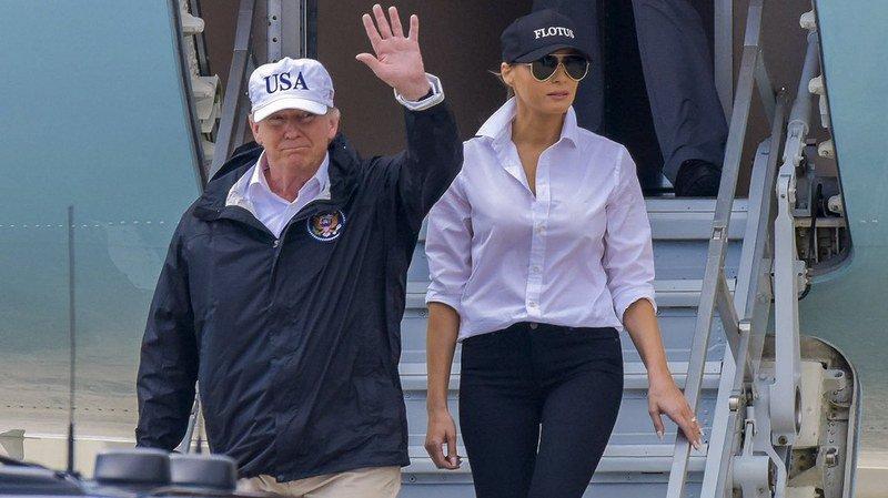 Tempête Harvey: Donald Trump tente de rassembler au texas