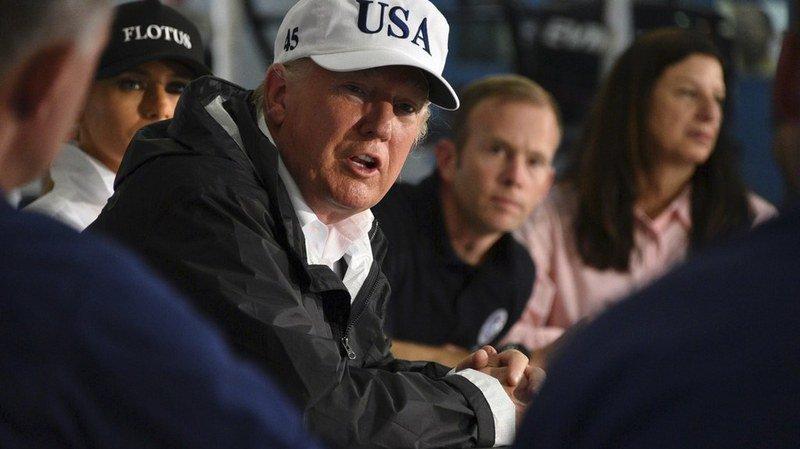 Tempête Harvey: Donald Trump est parti au Texas mesurer les dégâts causés par l'ouragan