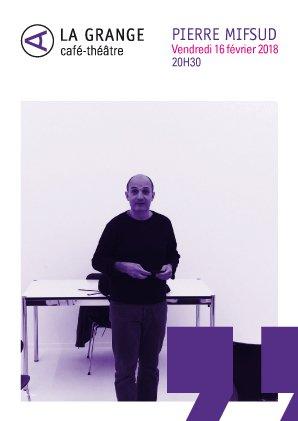 Pierre Mifsud, Conférence de choses