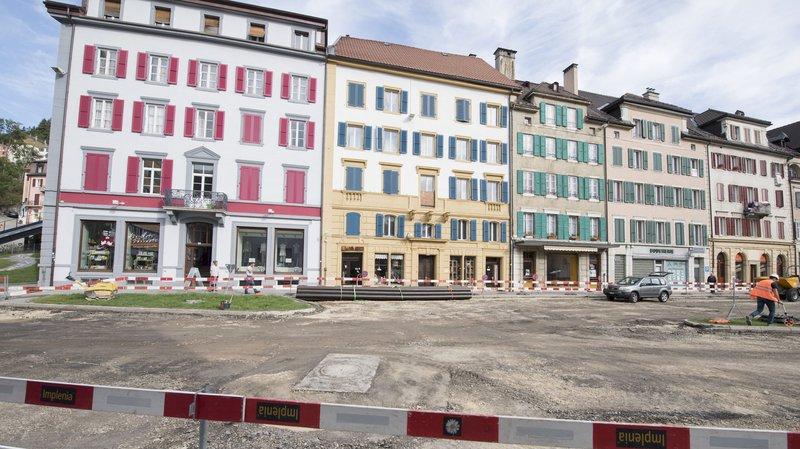 Les travaux de réaménagement de la place du 1er-Août, au Locle, ont débuté cette semaine.
