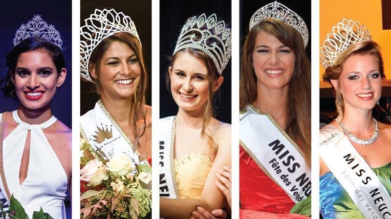 Que sont devenues les cinq dernières Miss Neuchâtel-Fête des Vendanges?