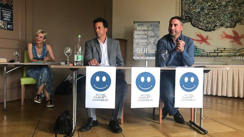 Conférence de presse de l'association en faveur du projet de Nouvel Hôtel judiciaire.
