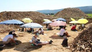 Courtedoux: Des étudiants creusent le sol pour trouver des ossements du Jurassique